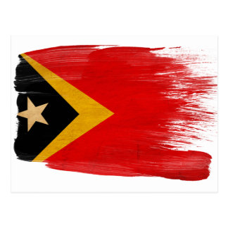 Timor Leste Flag Postcards