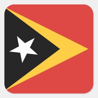Timorese Flag Square Sticker