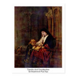 Timothy And Grandmother By Rembrandt Van Rijn Post Cards