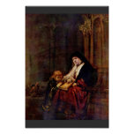 Timothy And His Grandmother By Rembrandt Harmensz. Print