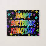 "[ Thumbnail: ""Timothy"" First Name, Fun ""Happy Birthday"" Jigsaw Puzzle ]"