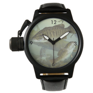 "Timothy Knepp Painting ""Smallmouth Bass"" Wrist Watch"