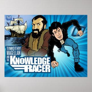 Timothy Magellan y poster del corredor del conocim