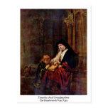 Timothy y abuela de Rembrandt Van Rijn Postales