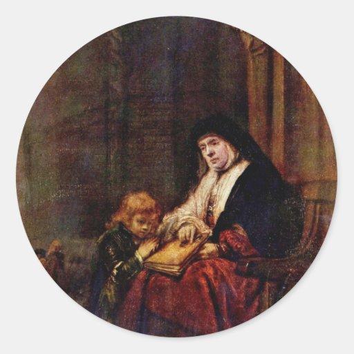 Timothy y su abuela de Rembrandt Harmensz. Etiquetas