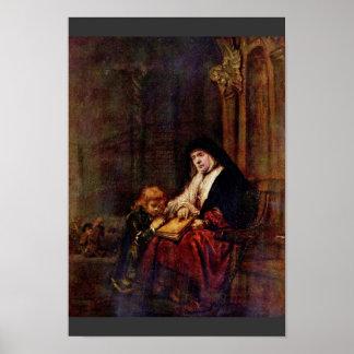 Timothy y su abuela de Rembrandt Harmensz Posters
