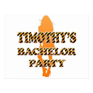 Timothy's Bachelor Party Postcard