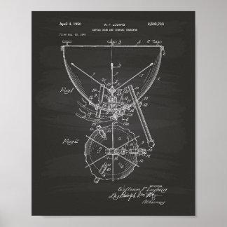 Timpani 1950 Patent Art - Chalkboard Poster