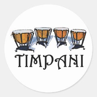 Timpani Classic Round Sticker