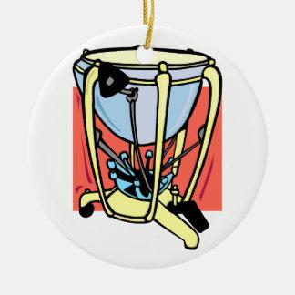 Timpani drum, pedal version, tympani 1 christmas ornaments