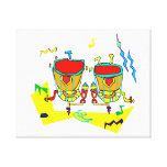 Timpani drums in abstract colours, typmani drum stretched canvas print