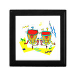 Timpani drums in abstract colours, typmani drum keepsake boxes