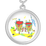 Timpani drums in abstract colours, typmani drum pendants
