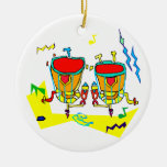 Timpani drums in abstract colours, typmani drum christmas tree ornaments