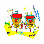 Timpani drums in abstract colours, typmani drum acrylic cut out