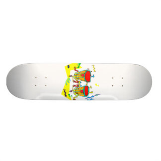 Timpani drums in abstract colours, typmani drum skate board deck