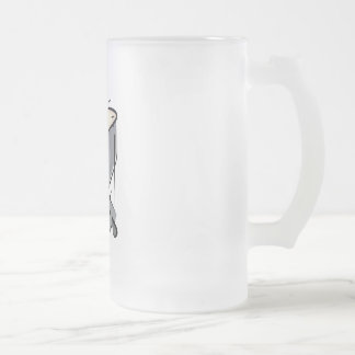 Timpani Frosted Glass Beer Mug