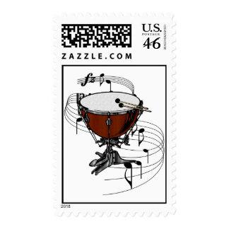 Timpani (Kettle Drum) Postage Stamp