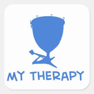 Timpani mis diseños de la terapia pegatina cuadrada