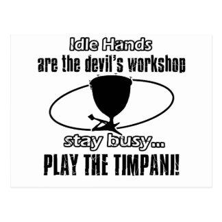 Timpani musical design postcard
