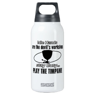 Timpani musical design 10 oz insulated SIGG thermos water bottle
