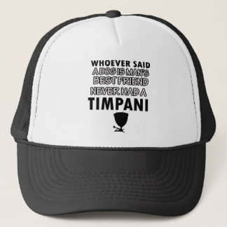 Timpani musical instrument trucker hat