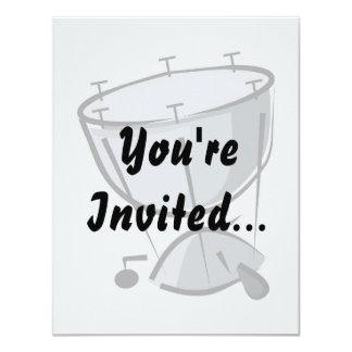 Timpani ningún diseño gráfico de la imagen del invitación 10,8 x 13,9 cm