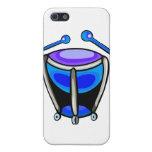 Timpani Simple Graphic Mallets, Blue Version iPhone 5 Case