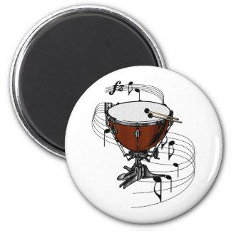 Timpani (tambor de la caldera) imán redondo 5 cm
