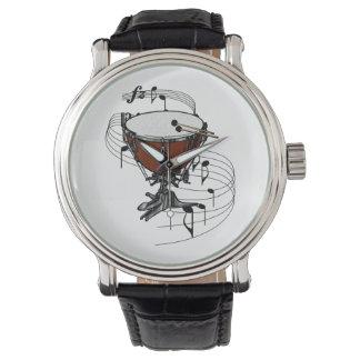 Timpani (tambor de la caldera) relojes de pulsera