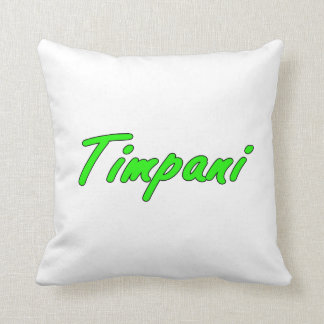 timpani text blk outline bright green.png throw pillows