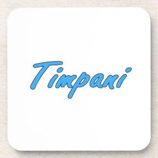 timpani text blk outline cornflower.png drink coaster