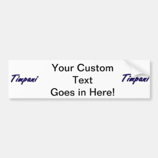 timpani text blk outline drk blue.png bumper sticker