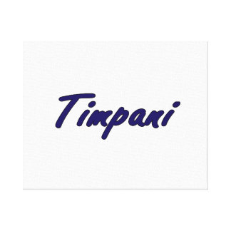 timpani text blk outline drk blue.png canvas print