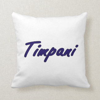 timpani text blk outline drk blue.png throw pillow