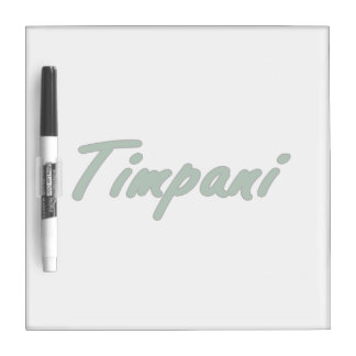 timpani text blk outline drk green.png Dry-Erase board