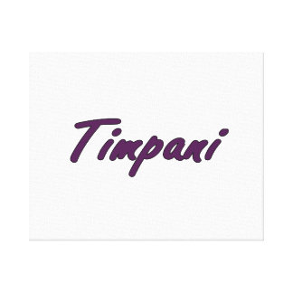 timpani text blk outline drk purple.png canvas print