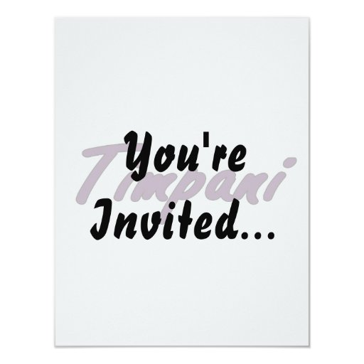 "timpani text blk outline drk purple.png 4.25"" x 5.5"" invitation card"