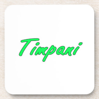 timpani text blk outline mint.png beverage coaster