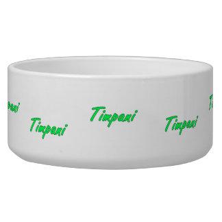 timpani text blk outline mint.png pet food bowl