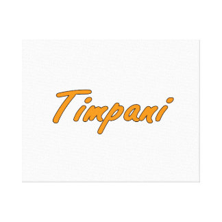 timpani text blk outline orange.png canvas print
