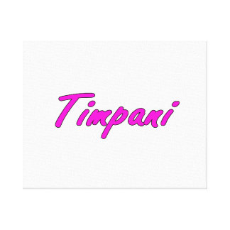 timpani text blk outline purple pink.png canvas print