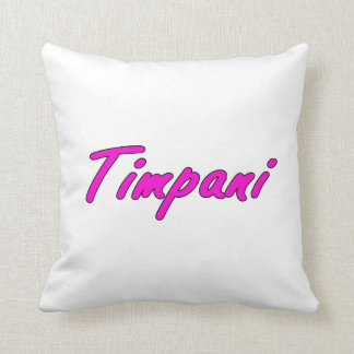 timpani text blk outline purple pink.png throw pillows