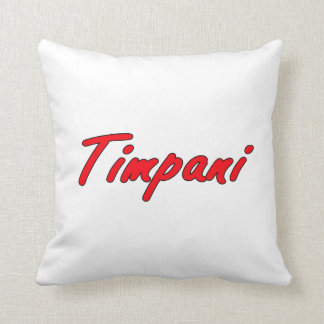 timpani text blk outline red.png throw pillow