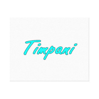 timpani text blk outline teal.png stretched canvas print