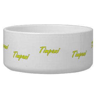 timpani text blk outline yellow.png pet food bowl