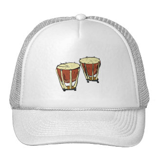 Timpani Two With Mallets Graphic Image Mesh Hat