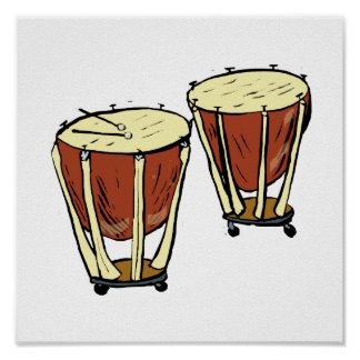 Timpani Two With Mallets Graphic Image Poster