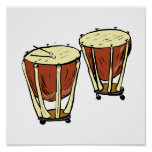 Timpani Two With Mallets Graphic Image Posters