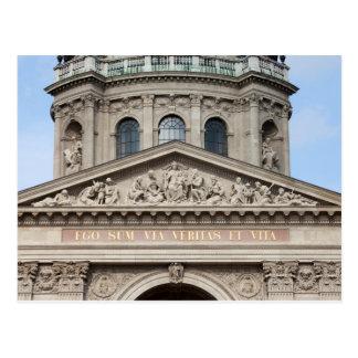 Tímpano de la basílica del St Stephen en Budapest Postal